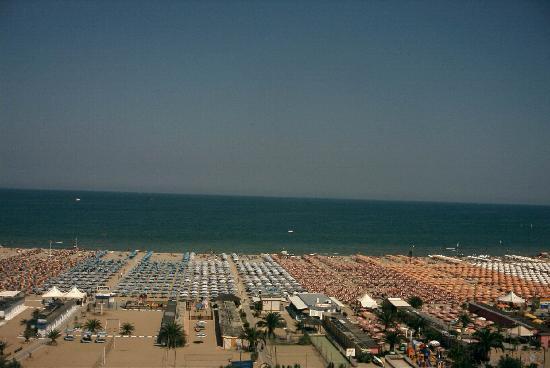 Hotel Sporting Rimini: vista dal balcone
