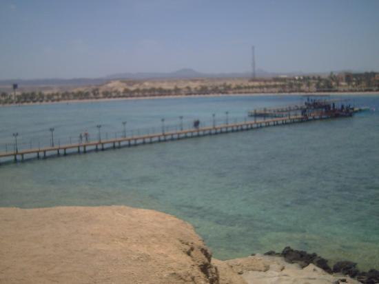 Jaz Lamaya Resort: the pier where you snorkel off