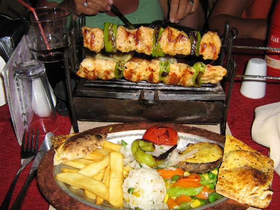 Palm Garden Apartments: shish kebab at venice
