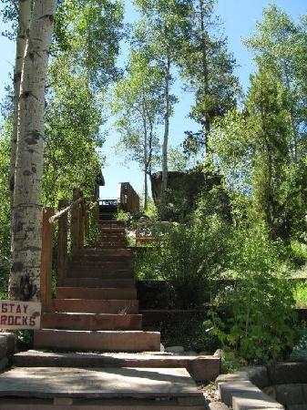 Grand Escape Cottages: The stairs are worth it