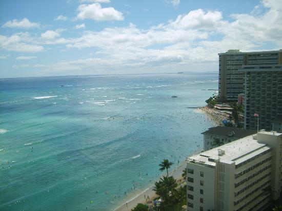 Hyatt Regency Waikiki Resort & Spa: view from our hotel room