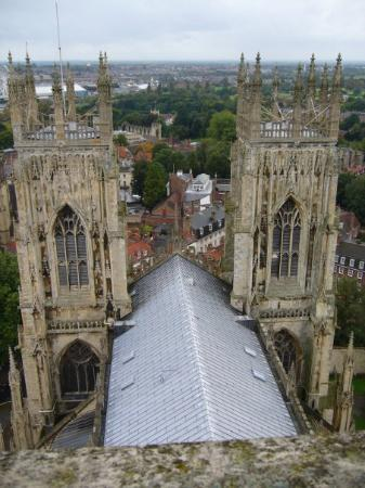 ยอร์ค, UK: View from the top (after 247 steps in a narrow circular staircase).