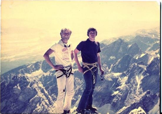แจ็กสัน, ไวโอมิง: On The Grand Teton Summit.  Eeeemo on the right, me on the left...circa 1979