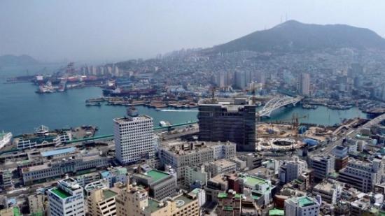 ปูซาน, เกาหลีใต้: Hier wird (wohl) der 500 Meter hohe  Lotte Tower entstehen