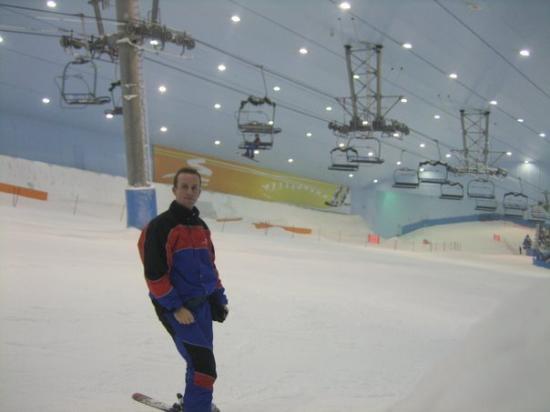 I'm skiing on ski Dubai