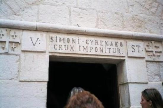 Old City of Jerusalem: Fifth Station of the Cross