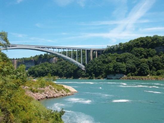 น้ำตกไนแอการา, แคนาดา: Niagara Falls, Canada Rainbow Bridge (Canada / U.S Border)