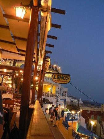 ฟิร่า, กรีซ: Lithos - delicious restaurant in Fira, Santorini, Greece.