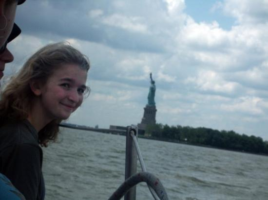 The Statue of Liberty!!! and my head.