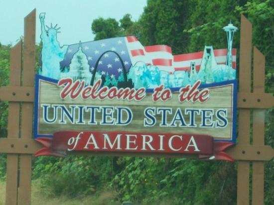 แวนคูเวอร์, แคนาดา: the welcome to america sign