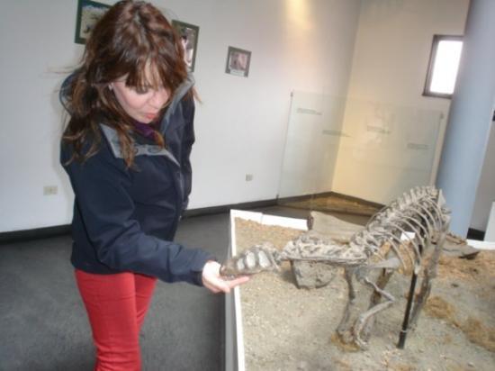Rio Gallegos, อาร์เจนตินา: Molestando al dinosaurito :P
