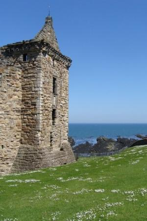 at the St Andrews Castle ruins, St Andrews