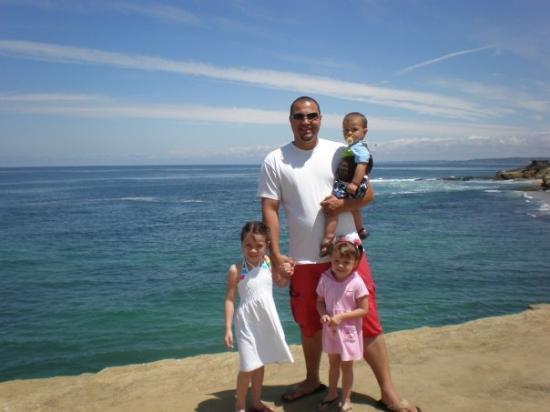 La Jolla Cove: us at La Jolla beach