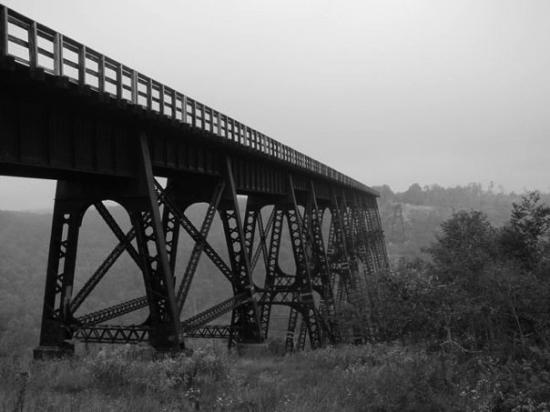 Kinzua Bridge State Park: Kinzua Bridge in Kane, PA. Referred to as the Eighth wonder of the world when completed.