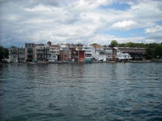 Town of Skaneateles as seen from pier