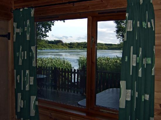 The Tranquil Otter: What a view to wake up to! - looking across the Lough from the bedroom in Lodge 5