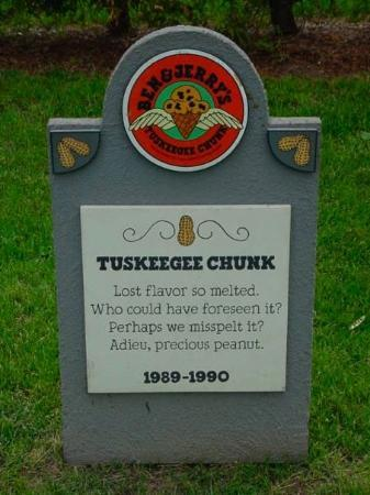 The Flavor Graveyard at Ben & Jerry's Waterbury, VT, United States