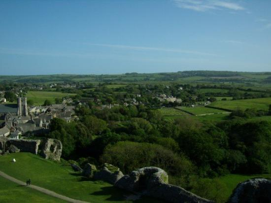 20070519 Beautiful view from Corfe Castle