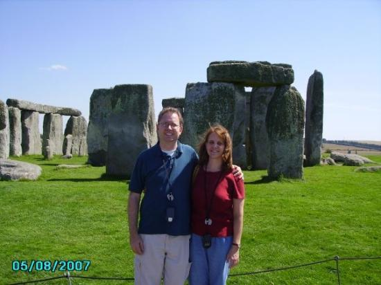 Salisbury, UK: Alison and Steve at Stonehenge.  It was sunny and hot that day and I got terribly sunburned.  Wh