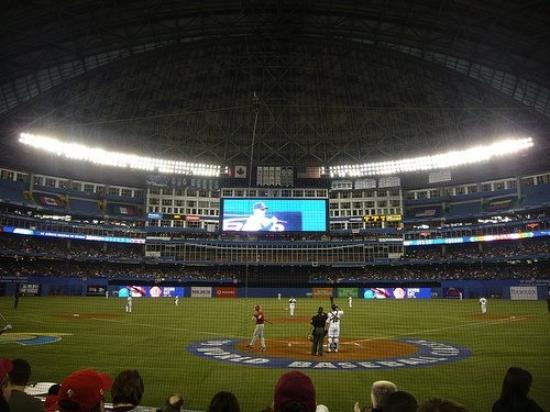 Rogers Centre: Roger Centre for the World Baseball Classic game 1 (USA vs Canada)  in Toronto, Canada.  We sat