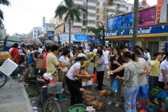 จูไห่, จีน: 華廈飯店旁市集