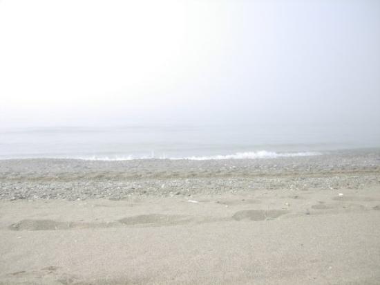 เอสเตโปนา, สเปน: Our last day on the beach... the sun is behind all that fog somewhere.... how surreal!! Estepon