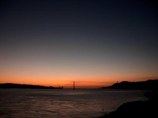 สะพานโกลเดนเกท: Alcatraz by Night San Francisco | January 2009