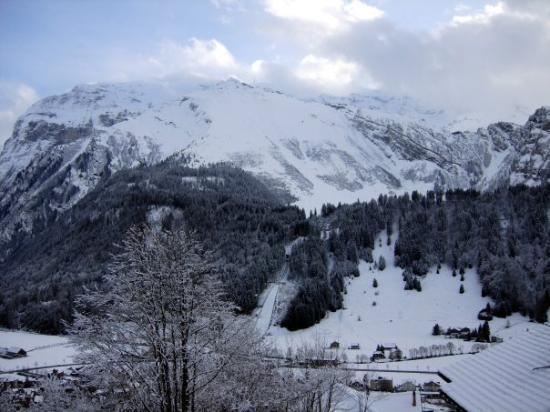 เอนเกลเบิร์ก, สวิตเซอร์แลนด์: View from the balcony. Engelberg, Switzerland - Dec 2007