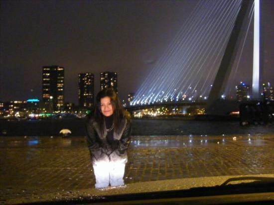 Erasmus Bridge: Romantic parking area ...