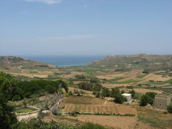 looking towards Ramla Bay from Xaghra, Gozo