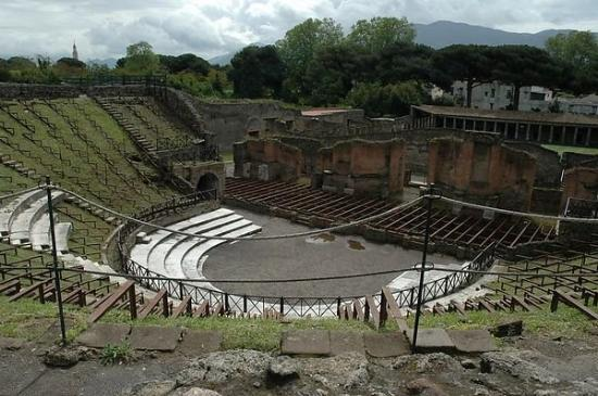the theater at Pompeii