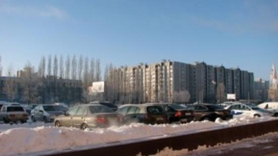 New living area in North side of Voronezh - view from my hotel door