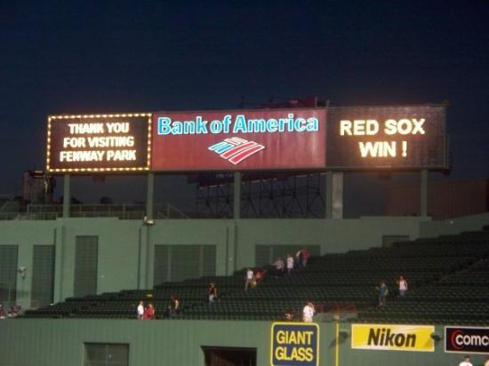 Fenway Park: Scoreboard says it all