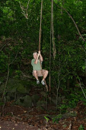 St. Kitts Captain Sunshine Tours: Swinging on a vine