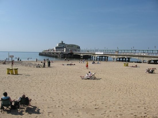 Борнмут, UK: Bournemouth beach