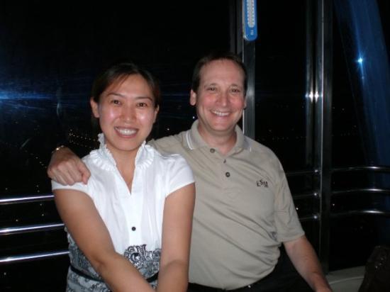 เทียนจิน, จีน: Yun and me riding the Eye of Tianjin (ferris wheel)