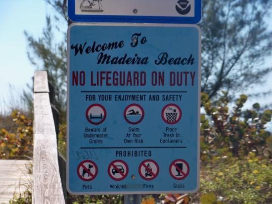 มาเดราบีช, ฟลอริด้า: beware of underwater groins.