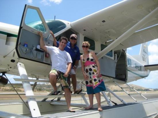 บริสเบน, ออสเตรเลีย: Boarding the seaplane to Whitehaven Beach