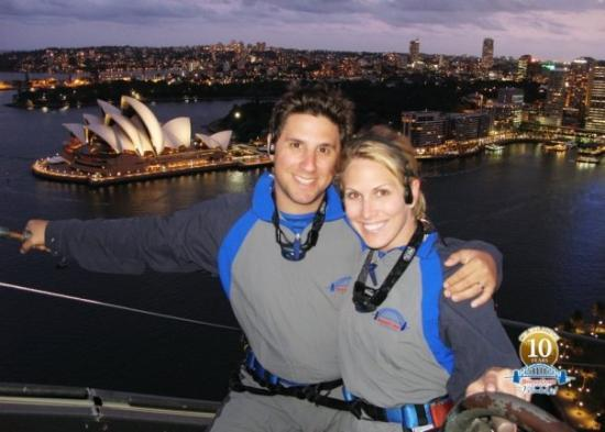 Sydney Opera House: we did the sydney harbour bridgeclimb, this is the peek! it was so scary.