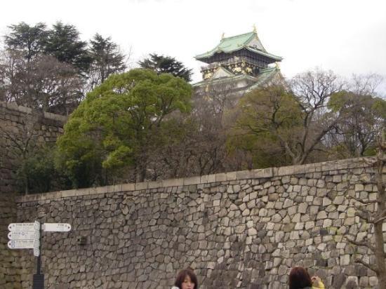ปราสาทโอซาก้า: First view of Osaka Castle.