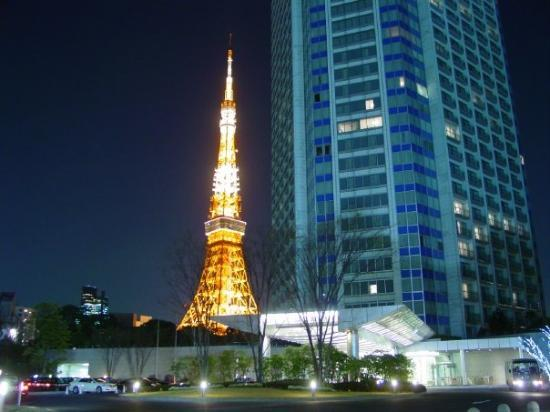 โตเกียวทาวเวอร์: Our hotel and Tokyo Tower.
