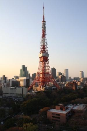 โตเกียวทาวเวอร์: Tokyo Tower seen from our balcony.