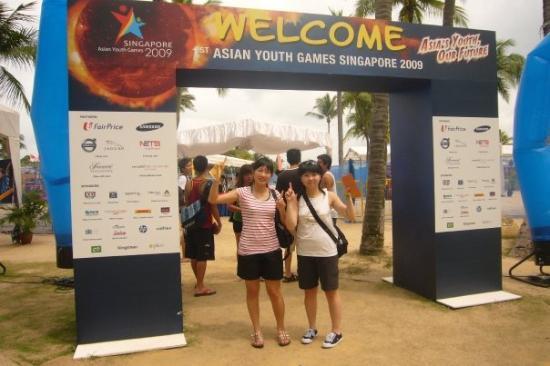 """เกาะเซนโตซา, สิงคโปร์: ..."""" Asia's Youth, our Future !! """"..>3<..講得好......原來e到搞緊比賽... 1st Asian Youth Games Singapore """"."""