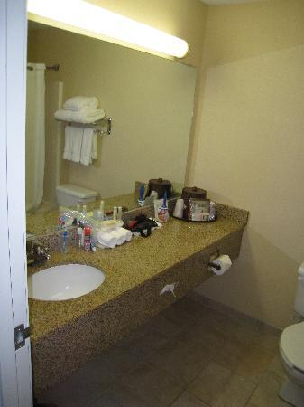Holiday Inn Express Jamestown : The Bathroom