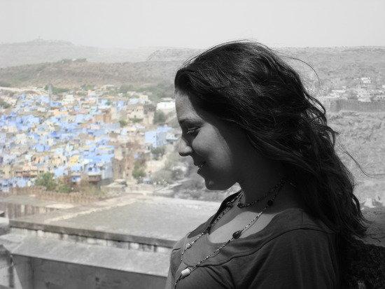 โชธปุระ, อินเดีย: Me in Jodphur, the blue city.