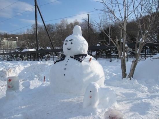 ซัปโปโร, ญี่ปุ่น: Snowman with a nipple on its head