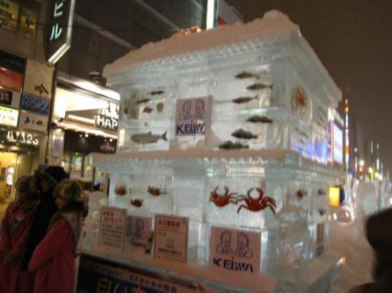 ซัปโปโร, ญี่ปุ่น: those are real seafood, I actually saw the crab move.