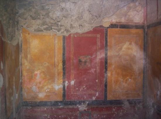 Pompeii, อิตาลี: Pompei (juin 2005) : Fresques murales aux couleurs remarquablement conservées