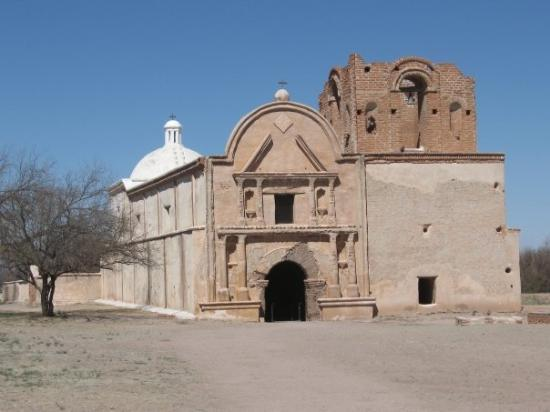 Tumacacori National Historical Park: The unrestored 18th century Spanish mission at Tumacacori, 20 miles north of Nogales, Mexico - a