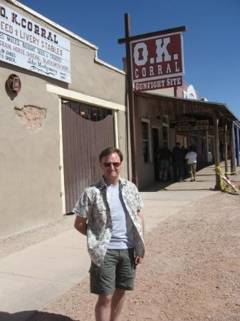 O.K. Corral: Had to do the tourist thing as I was roaming the streets of Tombstone, Arizona.